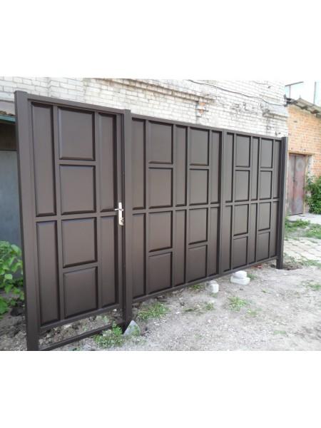 """Ворота филенчатые """"шоколадка"""""""