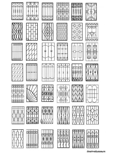 Образцы решеток на окна