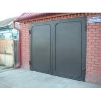 Ворота гаражные металлические с орнаментом