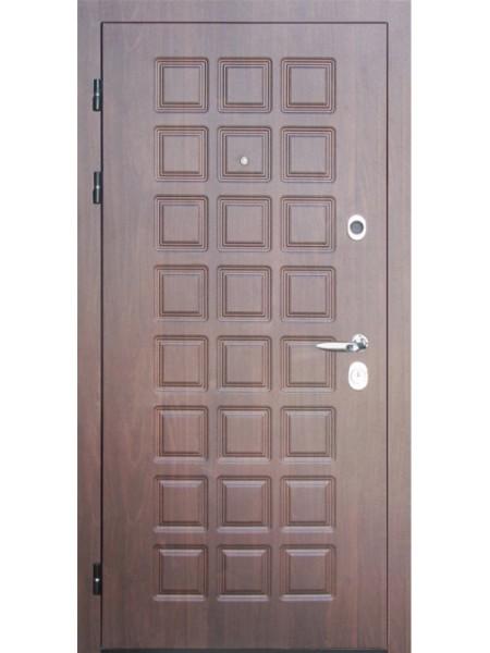 """Стальная входная дверь """"Элита 1"""" Орех классик"""