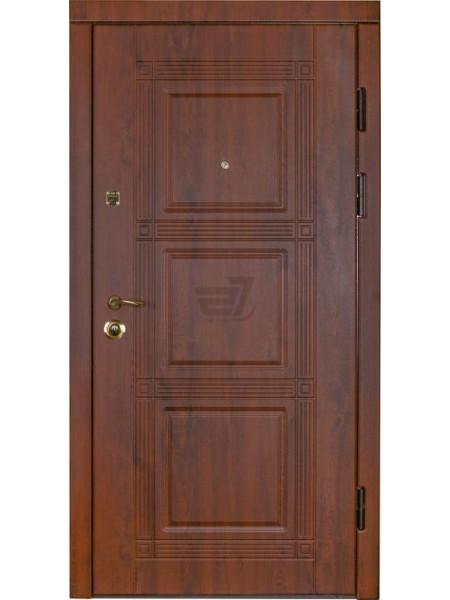 """Стальная входная дверь """"Элита 1""""  Орех тёмный"""