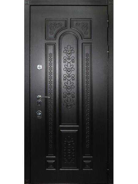 """Стальная входная дверь """"Элита 1"""" Венге темный"""