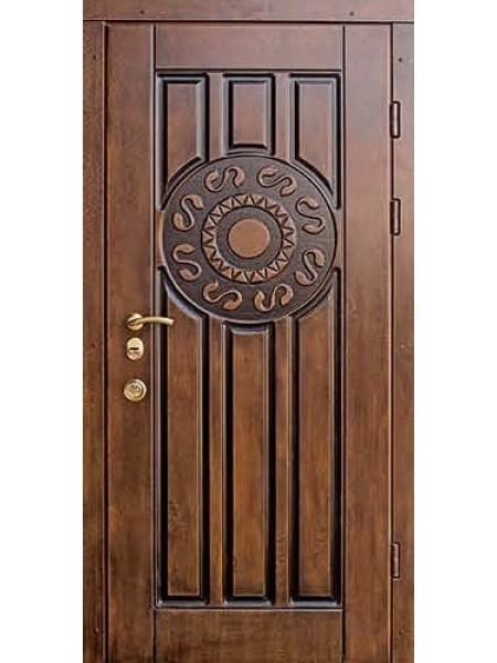 Стальная входная дверь Элита №3 Версаче Патина