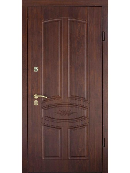 """Стальная входная дверь """"Стандарт №5"""" Орех тёмный"""