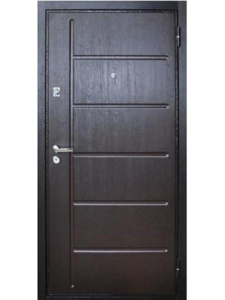 """Стальная входная дверь """"Стандарт №5"""" Венге Лестница"""