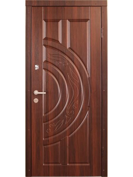 """Стальная входная дверь """"Стандарт №5"""" Орех классик"""